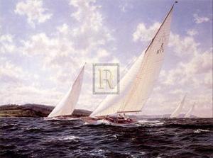 8 Meters Racing Off the West by Steven Dews