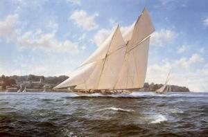 The Racing Schooner, Westward by Steven Dews