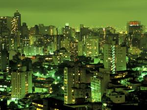Evening View of Sao Paulo, Brazil by Steven Emery