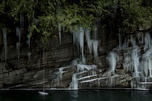 A Frozen Rope Swing on the South Fork of the Skykomish River of Washington by Steven Gnam