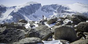 A Male Hiker on Froze to Death Plateau in the Absaroka Beartooth Wilderness, Montana by Steven Gnam