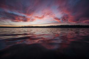 Sunset over Lake Washington. Seattle, Washington by Steven Gnam