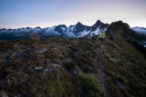 Trail Running in the North Cascades, Washington by Steven Gnam