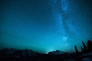 Winter Night Sky over Glacier National Park, Montana by Steven Gnam