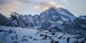 Winter Sunset over Glacier National Park, Montana by Steven Gnam