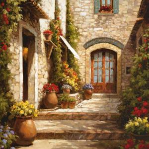 Sunlit Courtyard by Steven Harvey