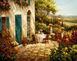 Sunny Terrace I by Steven Harvey