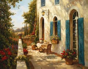 Sunny Terrace II by Steven Harvey