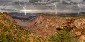 Grand Canyon from the Desert View Trail a mile east of the historic Watch Tower, USA by Steven Love