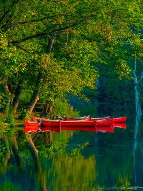 Red Canoes by Steven Maxx