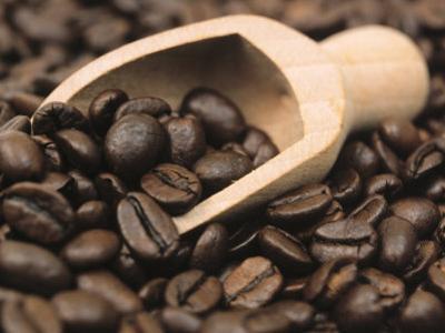 Coffee Beans in a Scoop by Steven Morris