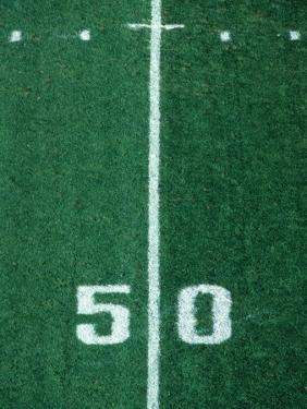 50 Yard Line American Football by Steven Sutton