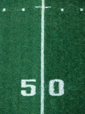 50 Yard Line American Football by Steven Sutton