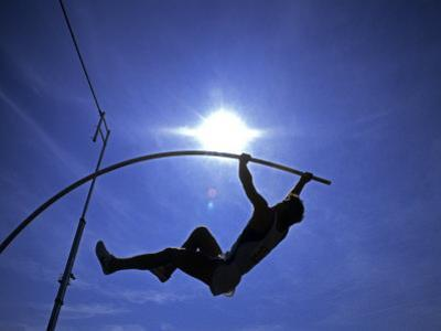 Silhouette of Male Pole Vaulter by Steven Sutton
