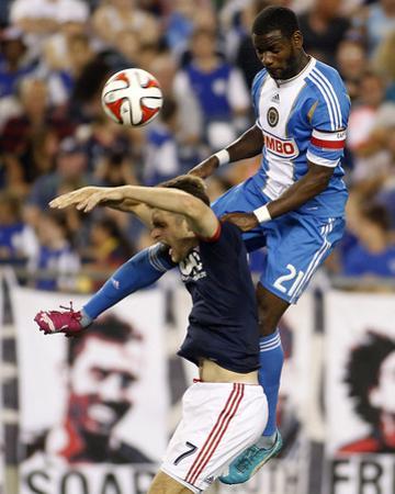 Jun 28, 2014 - MLS: Philadelphia Union vs New England Revolution - Maurice Edu, Patrick Mullins