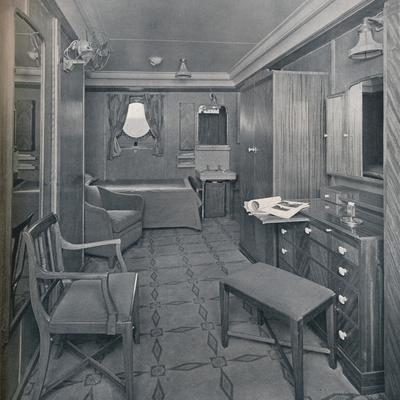 'Apartments in the First Class area on board the  S.S. Empress of Britain', 1931