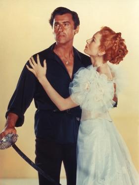 Stewart Granger and Deborah Kerr. THE PRISONER OF ZENDA, 1952 directed by RICHARD THORPE (photo)