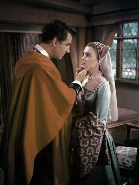 Stewart Granger / Jean Simmons (plays Elizabeth I) YOUNG BESS, 1953 directed by GEORGE SIDNEY (phot