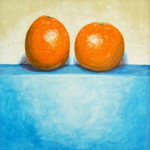 Still Life of Two Oranges