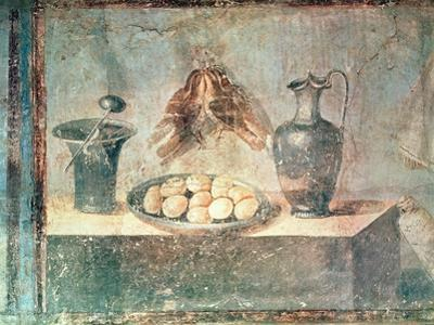 Still Life with Eggs and Thrushes, from the Villa Di Giulia Felice, Pompeii