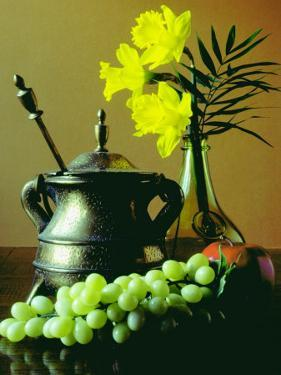 Still Life with Tea Pot and Fresh Grapes