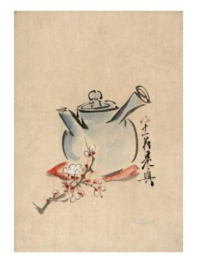 Still Life with Teapot and Cherry Blossom