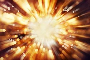 Bright Blast Of Light In Space Background by STILLFX