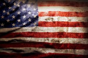 Closeup Of Grunge American Flag by STILLFX