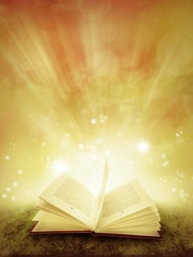 Open Book and Magical Background by STILLFX