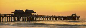 Stilt Houses on the Pier, Gulf of Mexico, Naples, Florida, USA