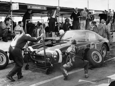 Stirling Moss in a Ferrari, Goodwood, 1961