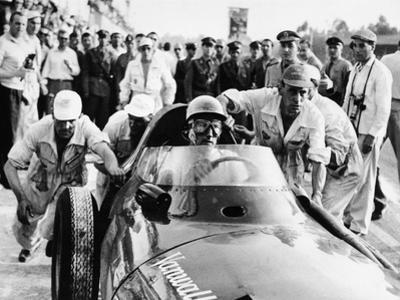 Stirling Moss in a Vanwall, Italian Grand Prix, Monza, 1957