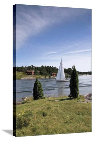 Stockholm Sailing-Doug Pearson-Stretched Canvas
