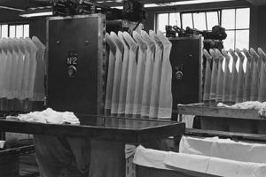 Stockings at a Clothing Factory