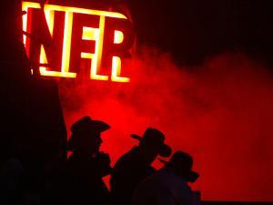 Stockmen Watch the Opening Ceremonies of the National Finals Rodeo