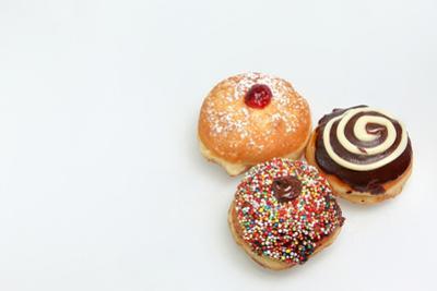 Hanukkah Doughnut - Traditional Jewish Holiday Food. by StockNinja