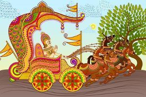 King in Horse Chariot by stockshoppe