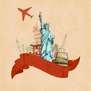 Retro Travel Poster by stockshoppe
