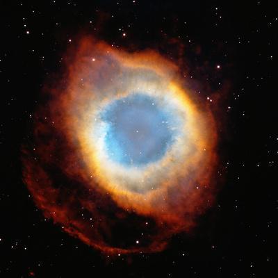 Helix Nebula, Satellite View (Digital Composite)