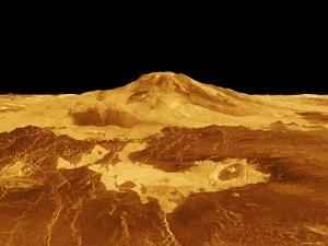 3D Perspective View of Maat Mons on Venus by Stocktrek Images