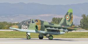 A Bulgarian Air Force Su-25 Jet by Stocktrek Images