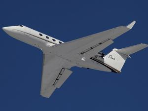 A C-20 Gulfstream Jet in Flight Over Germany by Stocktrek Images