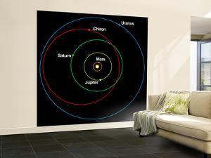 A Diagram Showing the Eccentric Orbit of Chiron by Stocktrek Images
