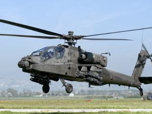 A Dutch AH-64 Apache Deployed to Frosinone Air Base, Italy for Training by Stocktrek Images