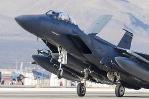 A F-15E Strike Eagle of the U.S. Air Force Uses Aero Braking after Landing by Stocktrek Images