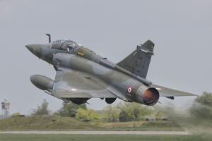 A French Air Force Mirage 2000D Taking Off by Stocktrek Images
