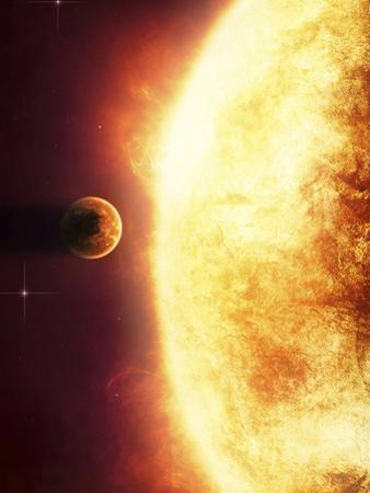 A Growing Sun About to Burn a Nearby Planet by Stocktrek Images