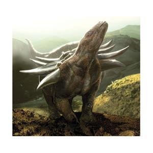 A Heavily Armored Panoplosaurus Dinosaur by Stocktrek Images