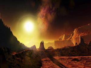 A Large Sun Heats This Alien Planet Which Bakes in Its Glow by Stocktrek Images