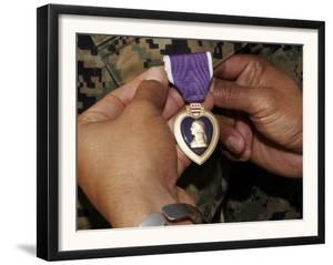 A Light Armored Vehicle Commander was Awarded the Purple Heart by Stocktrek Images